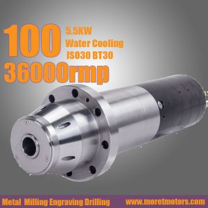 36000RMP 100mm 5.5kw ISO25 water cooling spindle motor