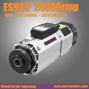 24000RMP  9.0kw ISO30 or BT30 ATC air cooling spindle motor short nose