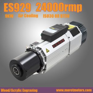 24000RMP  9.0kw ISO30 or BT30 ATC air cooling spindle motor long nose