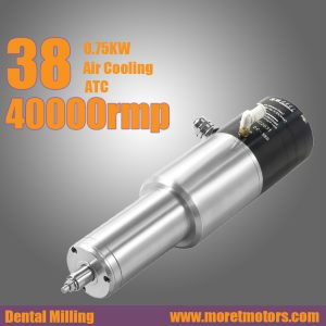 38mm 40000RMP 0.75kw air cooling  ATC spindle motor  for dental milling