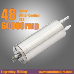 62mm 60000RMP 300w 48mm water cooling ER8 spindle motor  for engraving CNC router