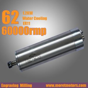 60000RMP 1.2KW 62mm water cooling ER11 spindle motor
