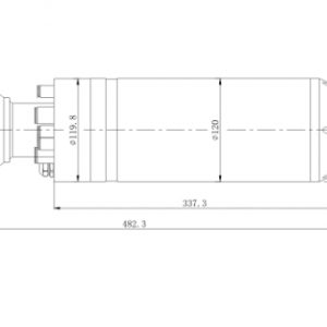 30000RMP 120mm 7.5kw HSK40E water cooling spindle motor