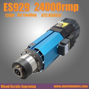 24000RMP  12kw HSK63F ATC air cooling spindle motor