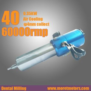 40mm 60000RMP 0.35kw air cooling  ATC spindle motor  for dental milling