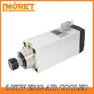 6.0kw air cooling ER32 spindle motor