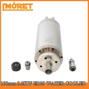100mm 3.2KW water cooling ER20 spindle motor